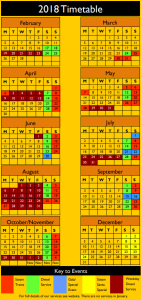 Amerton 2018 Timetable